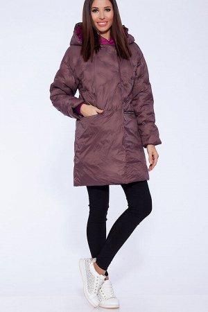 Куртка Состав: Полиэстер 63%, Нейлон 37%;  Сезон: Осень, Весна;  Цвет: Коричневый;  ;  С подкладом: С подкладом (состав- 50% полиэфир, 50% п/э) Удлиненная куртка из ткани с использованием технологии