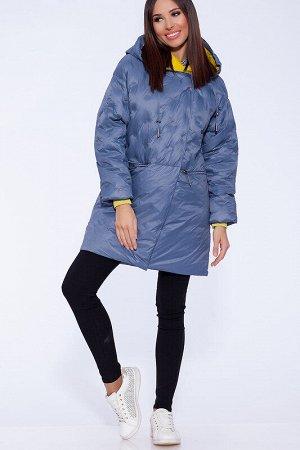Куртка Состав: Полиэстер 63%, Нейлон 37%;  Сезон: Осень, Весна;  Цвет: Голубой;  Страна: Россия;  С подкладом: С подкладом (состав- 50% полиэфир, 50% п/э) Удлиненная куртка из ткани с использованием т