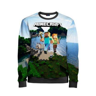 Brawl Stars. Детская одежда и аксессуары — Новинка! Детский свитшот 3D «Minecraft» — Свитшоты и толстовки