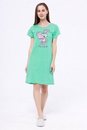 Платье Состав: Хлопок 100%.  Цвет: Бирюзовый.