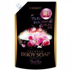 Крем-мыло увлажняющее с аргановым маслом, гиалур кислотой и коллагеном (аромат букета роз) 840 мл