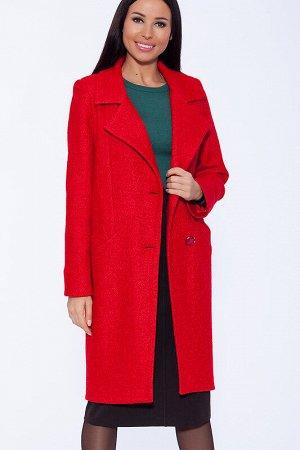 Пальто Состав: Шерсть 70%, Вискоза 20%, Полиэстер 10%;  Сезон: Осень, Весна;  Цвет: Красный;
