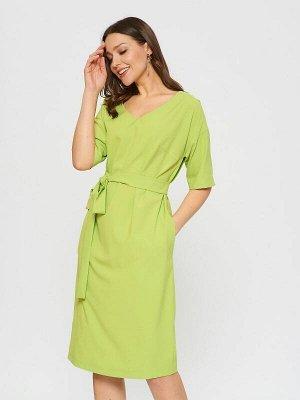 Платье Состав: ПЭ 56%, Вискоза 40%, Эластан 4%.  Цвет: Салатовый.