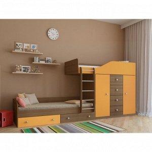 Детский комплекс «Астра 6», цвет дуб шамони/оранжевый