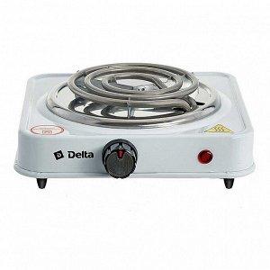 Плита электрическая 1000 Вт настольная 1-конфорочная DELTA D-703 белая