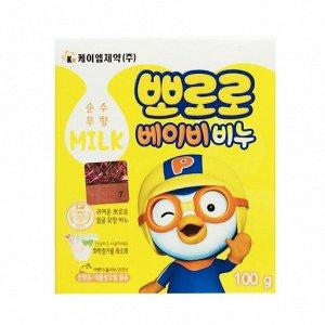 """Детское туалетное мыло """"Pororo"""" на растительной основе с козьим молоком и натуральными маслами (легкий молочный аромат) 100 г"""