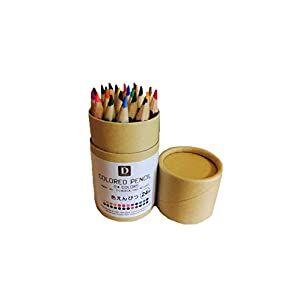 24-цвета карандаши Цветные для рисования в пенале, 9см
