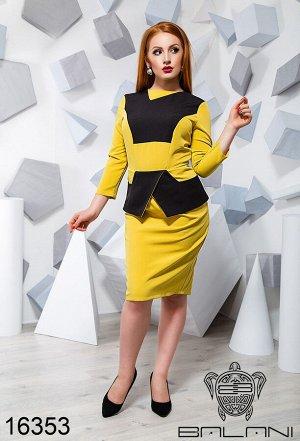 Платье с баской - 16353