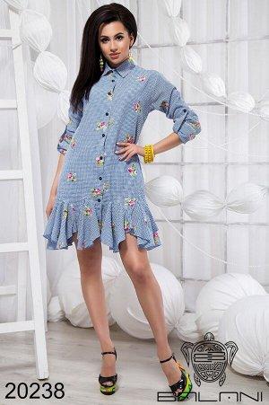 Платье рубашка с воланами - 20238