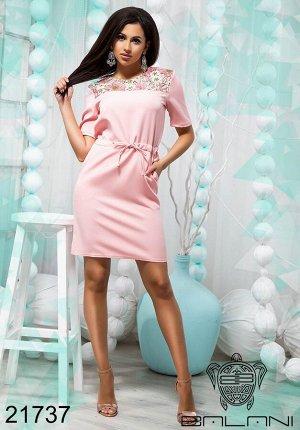 Стильное короткое платье - 21737