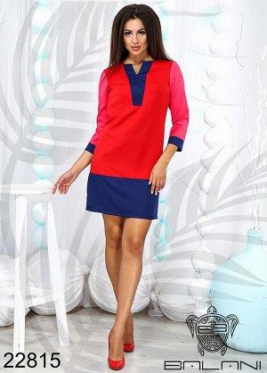 Платье короткое с длинным рукавом - 22815