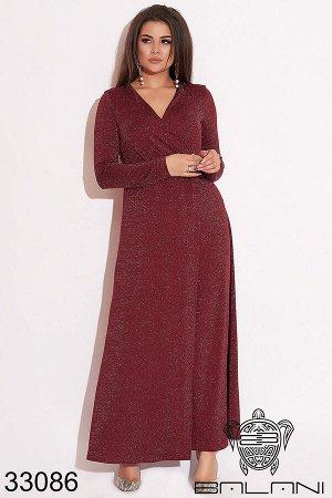 Вечернее платье на запах-33086
