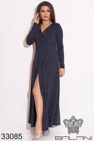 Вечернее платье на запах-33085