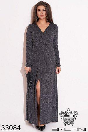 Вечернее платье на запах-33084