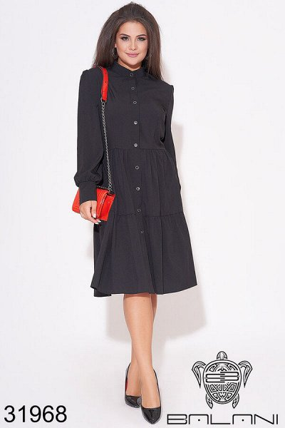 BALANI осень 2020.Женская одежда. — платья миди  PLUS SIZE — Платья