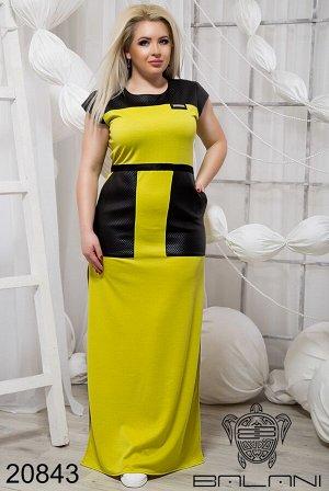 Элегантное платье с разрезом - 20843