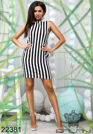 Платье футляр в полоску - 22381