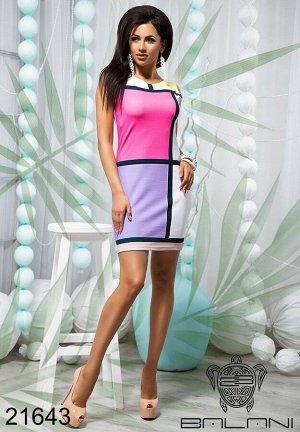 Короткое облегающее платье - 21643