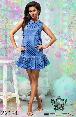 Платье с воланом по нижнему краю - 22121