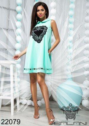 Платье с апликацией - 22079