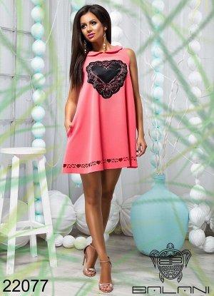 Платье с апликацией - 22077