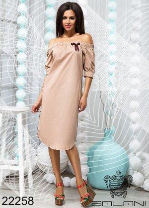 Платье с открытыми плечами - 22258