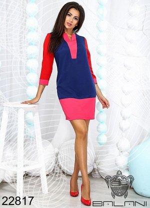 Платье короткое с длинным рукавом - 22817