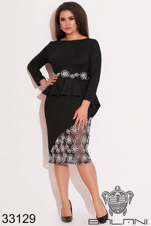 Платье с баской-33129