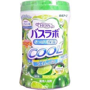 """226681 """"Hakugen Earth"""" """"COOL"""" Увлажняющая соль для ванны с освежающим эффектом с витамином С (с ароматом лайма), банка 640 гр"""
