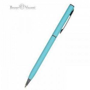"""Ручка автоматическая шариковая 0.7мм """"PALERMO"""" синяя, (бирюзовый металлический корпус) 20-0250/09 Bruno Visconti {Китай}"""