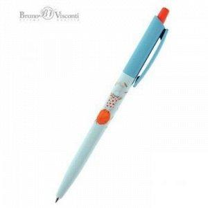 """Ручка автоматическая шариковая 0.5мм """"HappyClick. Зайка-жонглер"""" синяя 20-0241/21 Bruno Visconti {Китай}"""