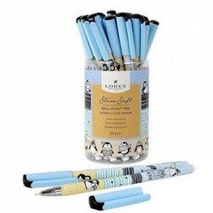 "Ручка шариковая масляная 0.5мм ""LOREX ILLEGALLY CUTE.PINGUIN"" синяя LXOPSS-IC5 LOREX {Китай}"