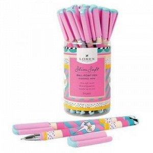 "Ручка шариковая масляная 0.5мм ""Slim Soft. LOREX ELEGANCE.WOW"" синяя LXOPSS-EL4 LOREX {Китай}"