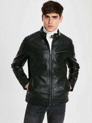 КУРТКА Длина: Короткий Фасон: Стандартный Толщина: Тонкий Тип товара: Куртки РАЗМЕР: 2XL, L, M, S, XL; ЦВЕТ: Black СОСТАВ: Основной материал: 100% Полиуретан