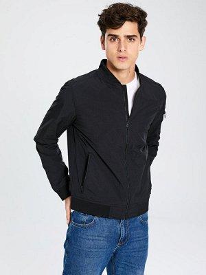 КУРТКА Фасон: Свободный Длина: Короткий Толщина: Тонкий Тип товара: Куртки РАЗМЕР: 2XL, L, M, S, XL; ЦВЕТ: Blue, Black СОСТАВ: Основной материал: 100% Полиамид