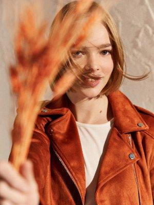 КУРТКА Длина: Короткий Толщина: Тонкий Тип товара: Куртки РАЗМЕР: 36, 38, 40; ЦВЕТ: Light Pink, Tile Brown СОСТАВ: Основной материал: 100% Полиэстер