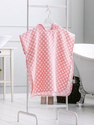 Пончо РАЗМЕР: STD; ЦВЕТ: Light Pink СОСТАВ: Основной материал: 100% Хлопок