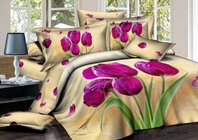 ™ВИКТОРИЯ - постельное белье от 775 руб, текстиль, трикотаж  — КПБ Сатин 3D — Спальня и гостиная