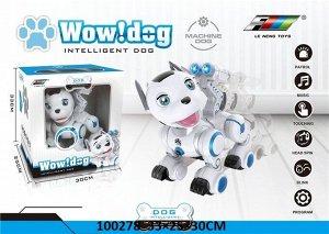 Собака-робот реагирует на прикосновения, муз.. кор