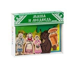"""Конструктор """"Сказки"""" Маша и Медведь (дерево), кор. 25*22*4 см"""