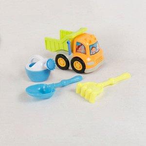 Песочный набор (грузовик, лейка, совок, грабли)