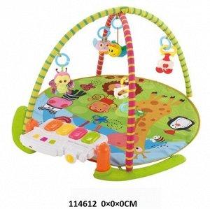 Коврик детский развивающий с игрушками