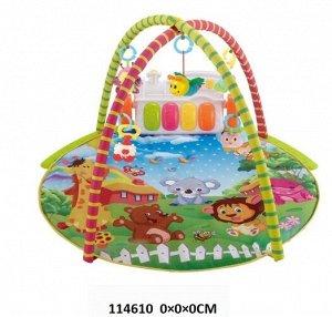 Коврик детский развивающий с игрушками, кор.