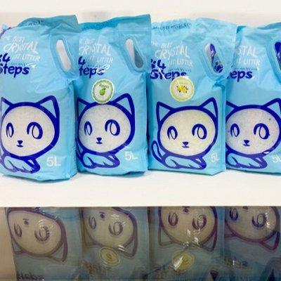 Экологичный наполнитель, уход из Южной Кореи! Цены ниже! — Наполнители 4Steps силикагелевые — Туалеты и наполнители
