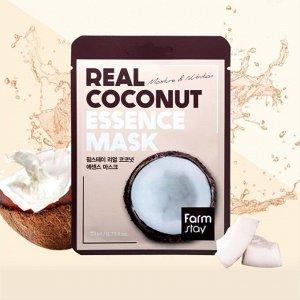 Тканевая маска с экстрактом кокоса Real Coconut Essence Mask