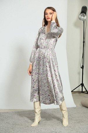 Платье Платье Divina 1.189  Состав ткани: Вискоза-78%; ПЭ-22%;  Рост: 164 см.  Платье длиной миди из лёгкого поливискозного полотна.