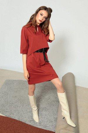 Платье Платье Divina 1.539  Состав ткани: ПЭ-28%; Спандекс-2%; Хлопок-70%;  Рост: 164 см.  Платье прямого силуэта из комфортного хлопкового полотна. Универсальная и стильная модель! Ремень не идёт в