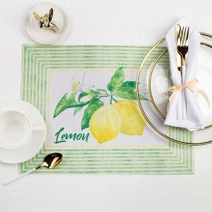 "Салфетка на стол ""Лимоны"" 30 х 40см"