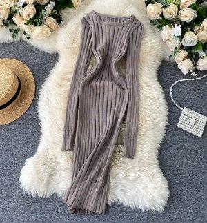 Платье, серый