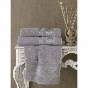 Полотенце Rebeka, размер 50 х 90 см, цвет серый
